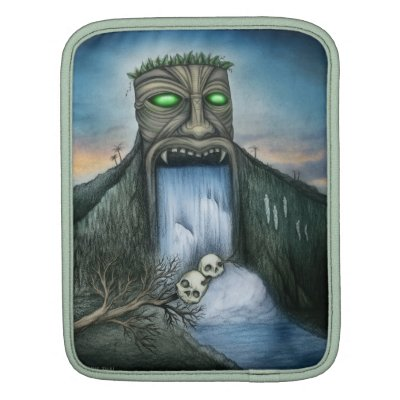 Tiki Waterfall Ipad Tablet Sleeve
