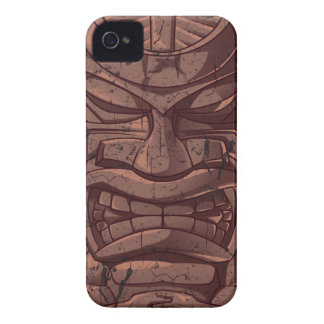 Tiki Wooden Statue Totem Sculpture Blackberry  Cas Case-Mate iPhone 4 Cases