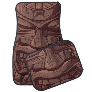 Tiki Wooden Statue Totem Sculpture Car Floor Mat