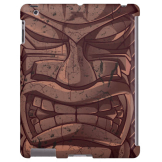 Tiki Wooden  Statue Totem Sculpture  iPad Case