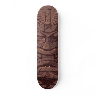 Tiki Wooden Statute Skateboard