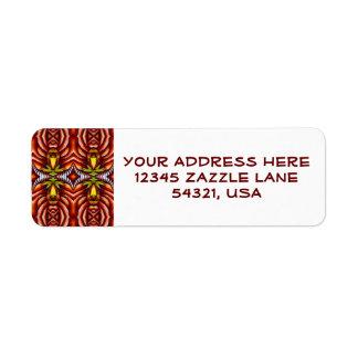 Tiki Zebra Stripe Brown Pattern Totem Pole Label