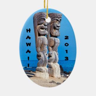 Tikis in Paradise Ceramic Ornament