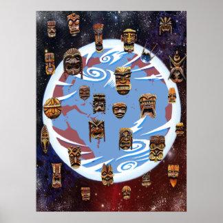 Tikis Over Earth Poster