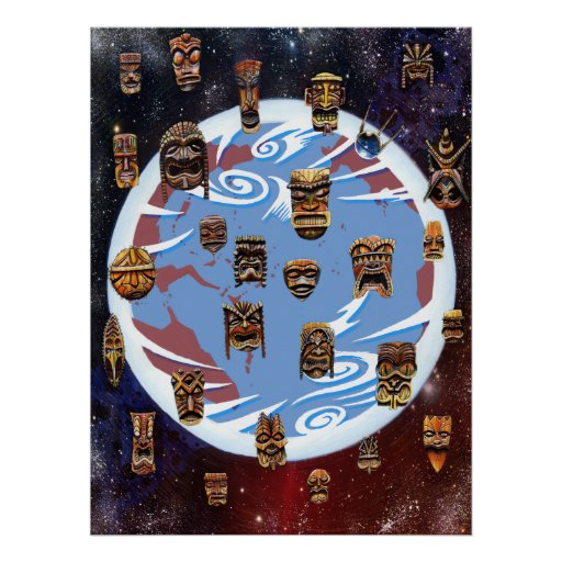 Tikis Over Earth Posters