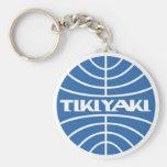 Tikiyaki Airways Basic Round Button Keychain