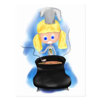 ¡Tikuska el pequeño cocinero! Postal