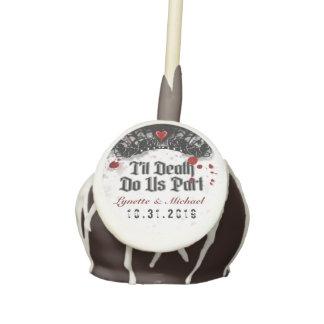 Til Death Do Us Part Custom Names Blood Splatter Cake Pops
