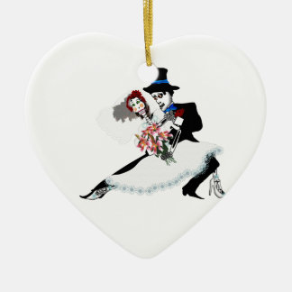 'Til Death Do Us Part - Day of the Dead wedding Ceramic Ornament