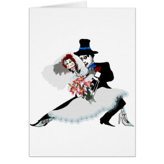 'Til Death Do Us Part - Day of the Dead wedding Greeting Card
