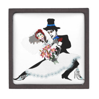 'Til Death Do Us Part - Day of the Dead wedding Jewelry Box