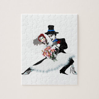 'Til Death Do Us Part - Day of the Dead wedding Jigsaw Puzzle