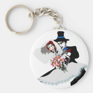 'Til Death Do Us Part - Day of the Dead wedding Keychain