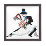 'Til Death Do Us Part - Day of the Dead wedding Premium Jewelry Boxes