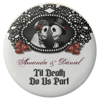 Til Death Do Us Part Halloween Black White & Red Chocolate Dipped Oreo