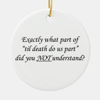 Til Death Do Us Part Ornament
