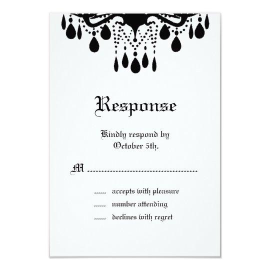 Til Death Do Us Part RSVP Card