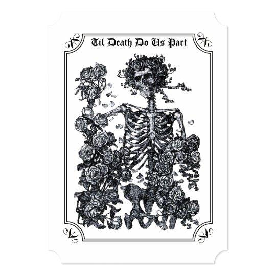 Til Death Do Us Part Skeleton Wedding Invitation | Zazzle.com