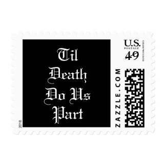 Til Death Do Us Part Wedding Postage