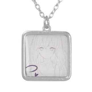 tila animates girl small princess silver plated necklace