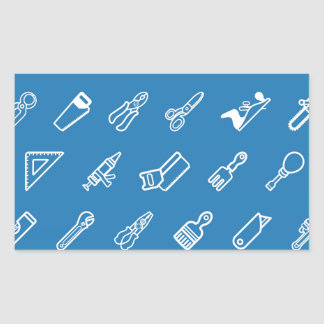 Tilable tools background texture rectangle sticker
