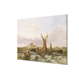 Tilbury Fort - Wind Against the Tide, 1853 (oil on Canvas Print