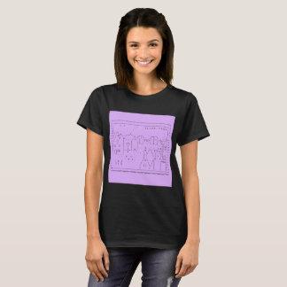 tilde.town ascii art fitted shirt