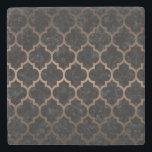 "TILE1 BLACK MARBLE &amp; BRONZE METAL STONE COASTER<br><div class=""desc"">A beautifully shaped black marble tile pattern with bronze metal lines.</div>"