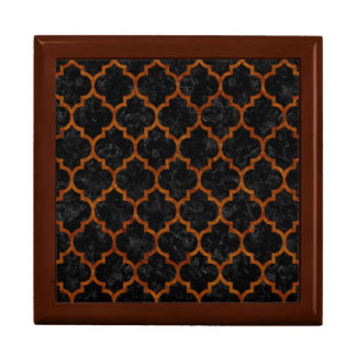 TILE1 BLACK MARBLE & BROWN MARBLE GIFT BOX