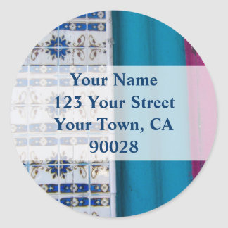 Tile Abstract Address labels