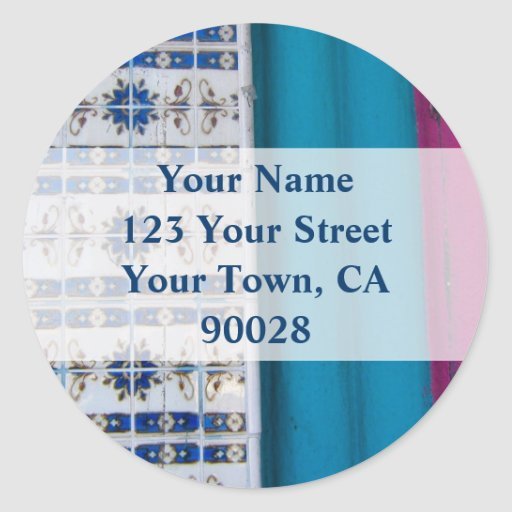 Tile Abstract Address labels Sticker