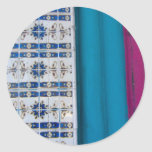 Tile Abstract Round Stickers