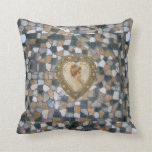 Tile and Victorian Heart Throw Pillows