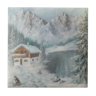 Tile Ann Hayes Painting Bavarian Snow Dream