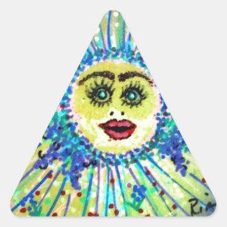 Tile Art Image-62915b.jpg Triangle Sticker