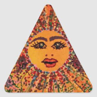 Tile Art Image-71115.jpg Triangle Sticker