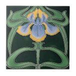 """Tile - Art Nouveau Irises<br><div class=""""desc"""">Beautiful Irises in the art Nouveau style.  You Have the choice of two size tile.</div>"""