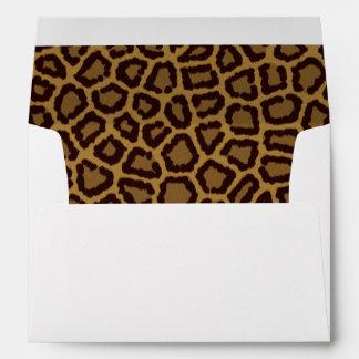 Tile background with a leopard fur envelopes