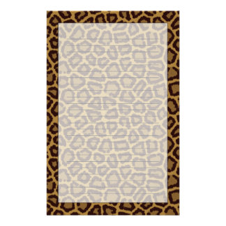 Tile background with a leopard fur stationery