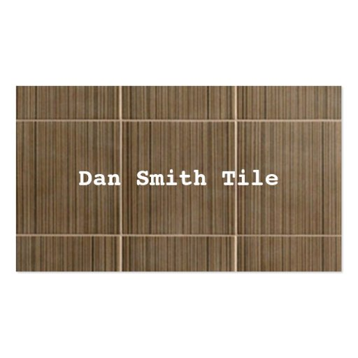 Tile business card