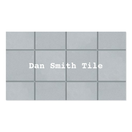 Tile business card pack of standard business cards