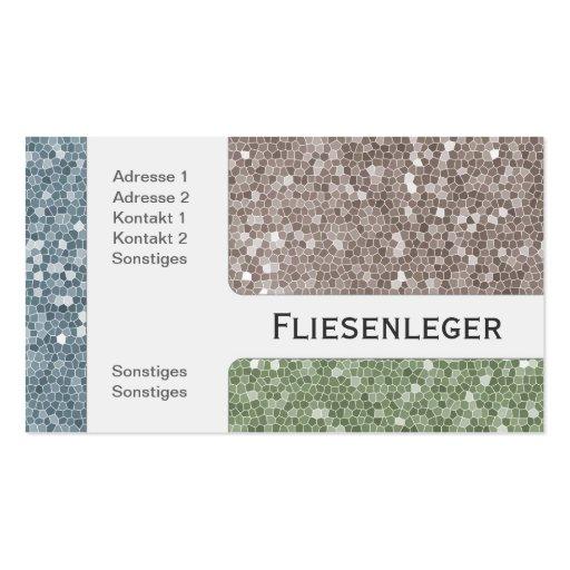Fliesen visitenkartenvorlage zazzle for Tiler business card