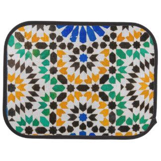 Tile decoration at Bahia Palace Car Floor Mat