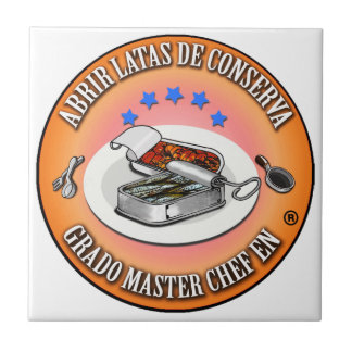 Tile Degree Master Chef To open Conserve Tins
