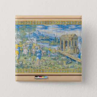 Tile depicting the Story of Noah Button