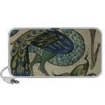 Tile design of heron and fish, by Walter Crane Portable Speaker