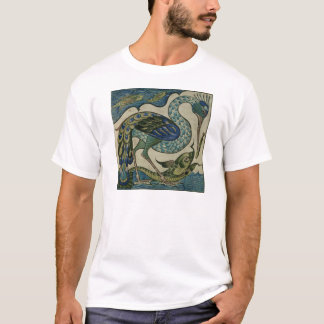 Tile design of heron and fish, by Walter Crane T-Shirt