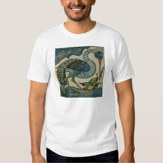 Tile design of heron and fish, by Walter Crane Tee Shirt