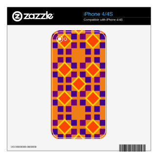 Tile Design on iPhone 4/4S Skin Decals For The iPhone 4S