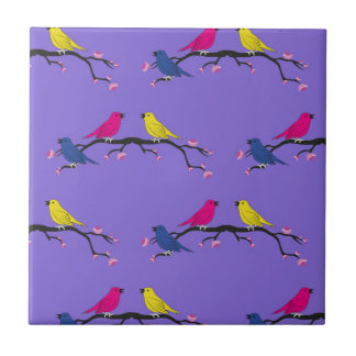 Tile design with birds